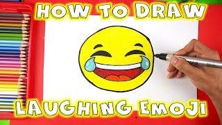 How to Draw Laughing Emoji - Tears of Joy