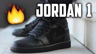 jordan 1 mid all black