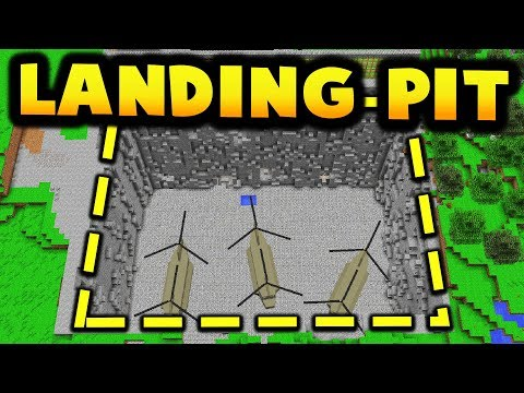 UNDERGROUND HELICOPTER LANDING LAIR IN MINECRAFT! thumbnail