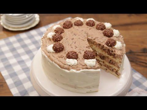 Schokoladig, cremig, lecker: Die Ferrero - Rocher - Torte