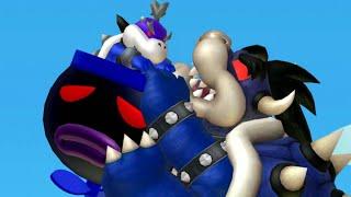 New Super Mario Bros U - Dark Bowser Boss Battle