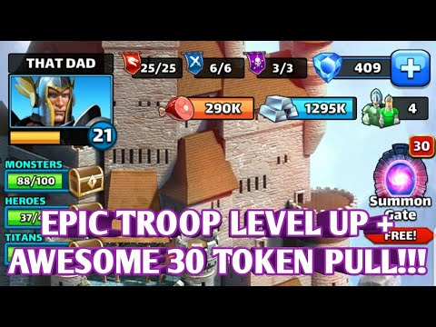 AWESOME PULLS FROM ×30 HERO SUMMON + TROOP LEVEL UP + PROVINCE 19!!!  EMPIRES AND PUZZLES