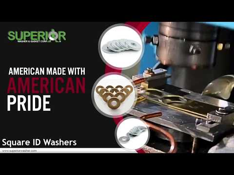 Square ID Washers From Superior Washer & Gasket Corp.