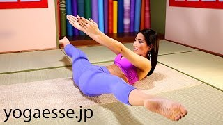 Straddle pose lifting through – Learn the Yoga Body Secret