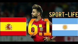 Испания - Аргентина 6:1 ОБЗОР МАТЧА HD.