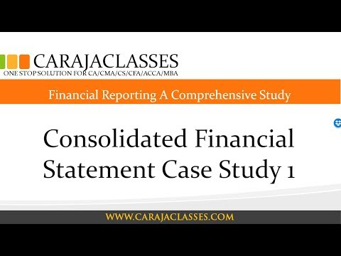 Consolidated Financial Statement Case Study 1