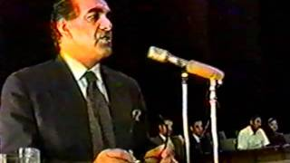 A.R. Ghafoorzai, Foreign Minister of Afghanistan, Balkh University June 1997 part 2.