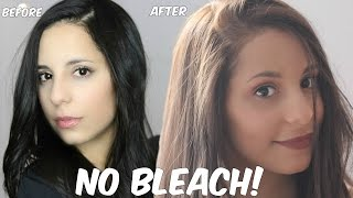 DIY Lighten Dark Hair WITHOUT Added Bleach at Home!