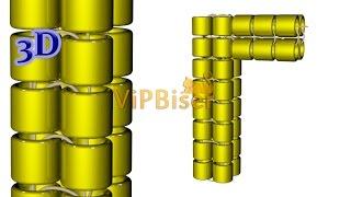Tubular Herringbone Stitch/Ndebele. 3D Beading Tutorial