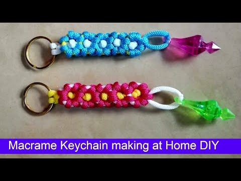macrame-keychain-diy-crafts-to-do-at-home