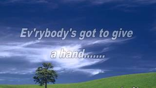 The Beegees - Give a hand take a hand lyric
