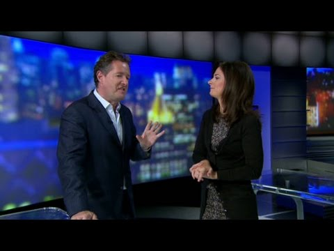 Piers Morgan crashes Erin Burnett's
