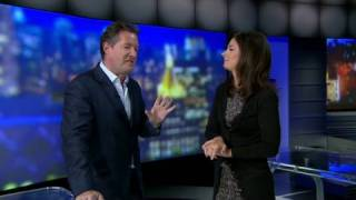 Piers Morgan crashes Erin Burnett's show