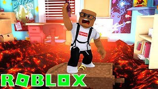 SURVIVING THE LAVA FLOOR IN ROBLOX