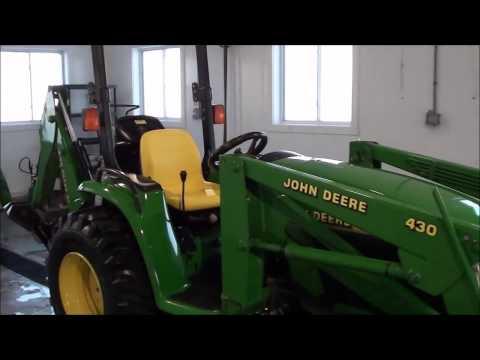Repeat 2320 John Deere Compact Tractor John Deere 46 Backhoe