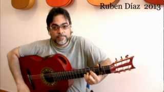 Almoraima Step by Step 5 /Ruben Diaz Andalusian Flamenco Guitar Lessons on Paco de Lucia's Technique