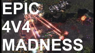 EPIC 4v4! on Primeval Wilds - StarCraft2 - Legacy of the Void 2018