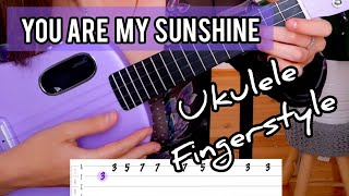 YOU ARE MY SUNSHINE EASY UKULELE FINGERSTYLE PLAYALONG