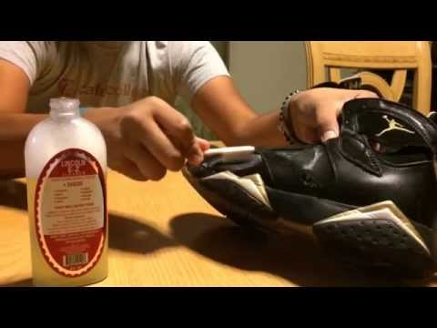 How to clean suede/nubuck tutorial with lincoln e-z cleaner