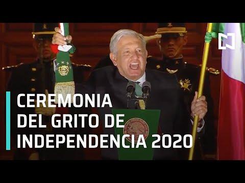 AMLO encabeza ceremonia del Grito de Independencia 2020