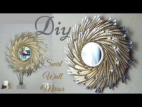 Diy Swirl Mirror Wall Decor| Wall Decorating ideas! thumbnail