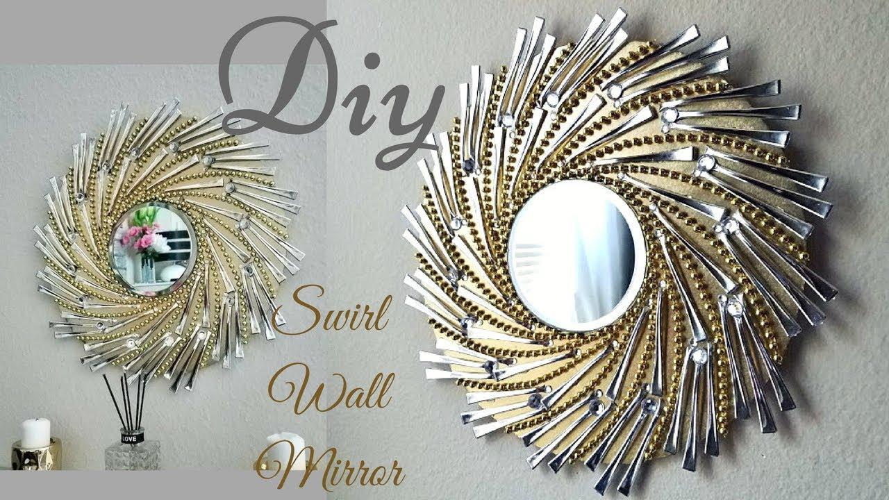Diy Swirl Mirror Wall Decor Wall Decorating Ideas Youtube