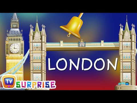 ChuChu TV Surprise Eggs Nursery Rhymes Toys | Wheels on the Bus | Learn Colours in London City Tour