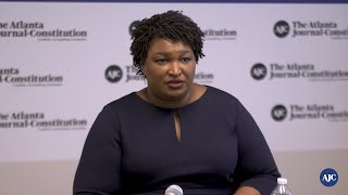 Stacey Abrams addresses recent attacks by Kemp's camp