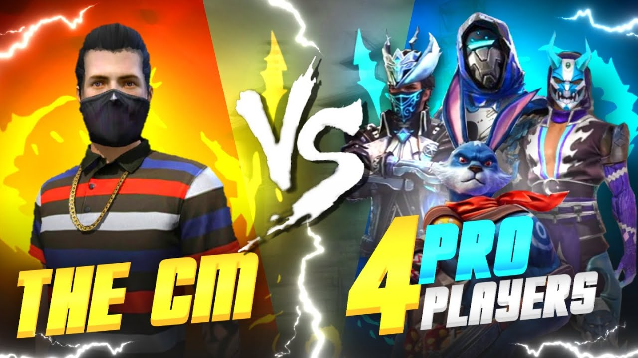THE CM VS 4 PRO PLAYERS  | INSANE MATCH  |👽🔥
