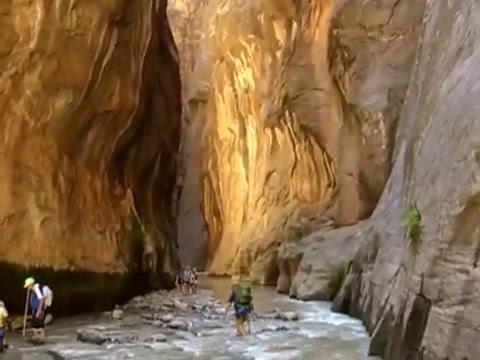 Zion slot canyon hike