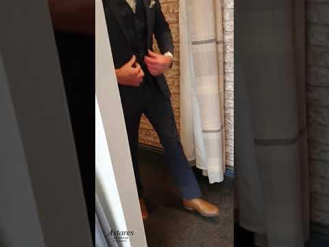Suit up..look sharp | Airforce blue check 3 pc suit