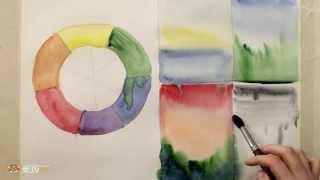 DrawFox. Акварельная живопись для начинающих. 1-1. Цветовой круг и образы будущих картин.