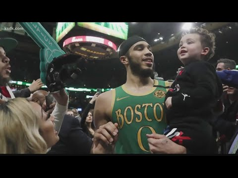 From half a world away, Jayson Tatum's father watched in ...