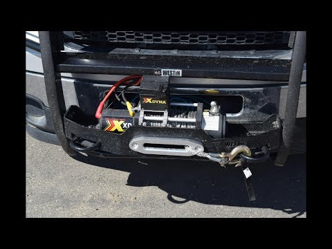 How to Install Westin Tow Hooks on Westin Sportsman Brush Guard with Winch Tray