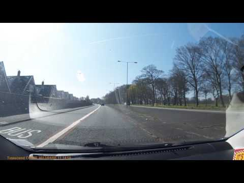 Dashcam - St.Helens Merseyside, using bus lanes and cutting across roundabouts