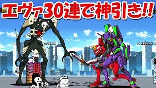【にゃんこ大戦争】エヴァンゲリオンコラボガチャ30連で神引き!!