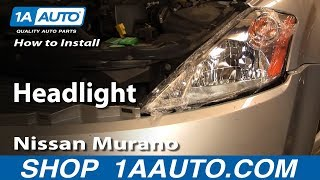 How To Install Replace Headlight 03-07 Nissan Murano 1AAuto.com