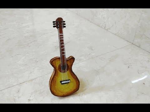 How to make decorative Guitar using Paper/ Cardboard DIY