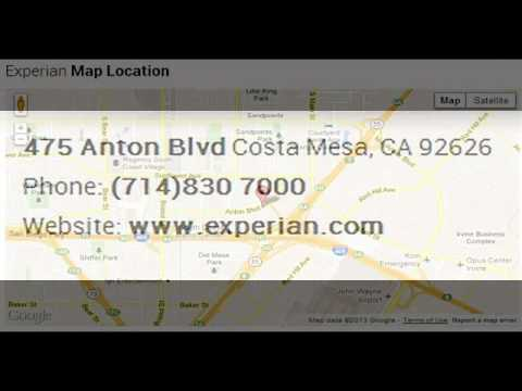 Experian Corporate Office Contact Information - YouTube