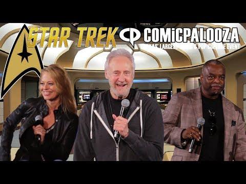 Brent Spiner, LeVar Burton and Jeri Ryan   Star Trek Comicpalooza Panel