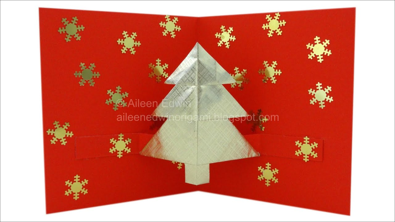 Origami Pop-Up Christmas Tree Card Video Tutorial *HD ... - photo#47