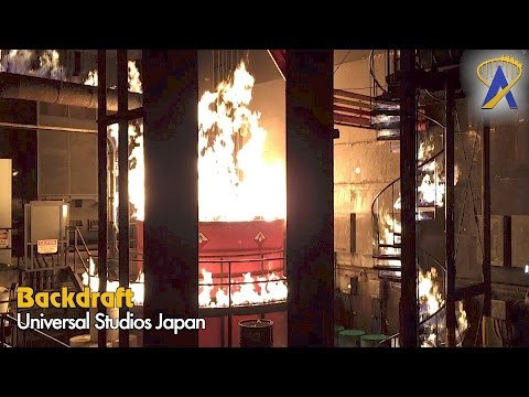 Backdraft Special Effects Fire Show Universal Studios Japan