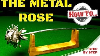 How to: The metal rose Valentine's gift idea