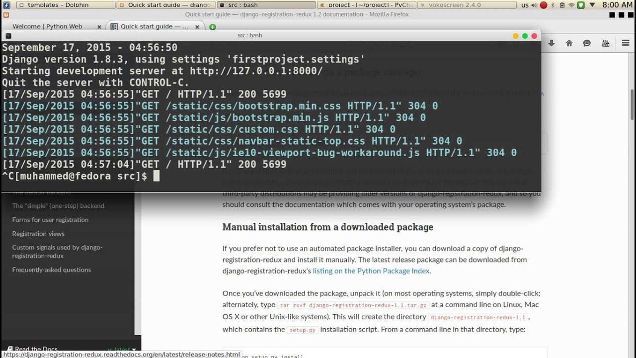 94 Python Web Django registration Redux قائمة التسجيل والدخول - YouTube
