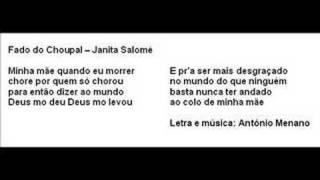 Fado do Choupal - Janita Salomé