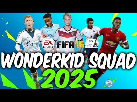 Fifa 16 Career Mode Wonderkid Squad In 2025 Youtube