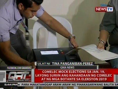 COMELEC mock elections sa Jan. 19, layong suriin ang kahandaan ng COMELEC at ng mga botante