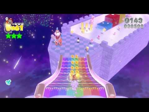 スーパーマリオ3Dワールド 王冠ー王冠全キャラクリア映像