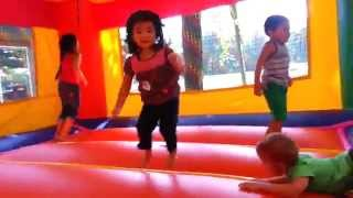 Kids Play in Inflatable Bounce House!