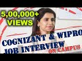Campus Placement Interviews - Cognizant & Wipro - Manish Raj Srivastav - Sathyabama University
